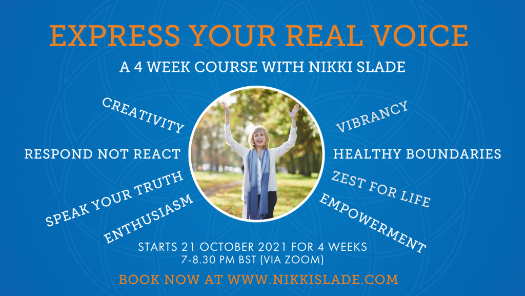 Express Your Real Voice course with Nikki Slade